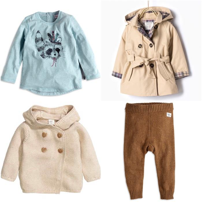 bluzka i spodnie Lindex, kardigan H&M, trencz Zara