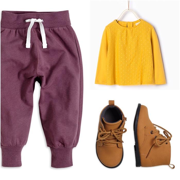bluzka Zara, spodnie i buty Lindex
