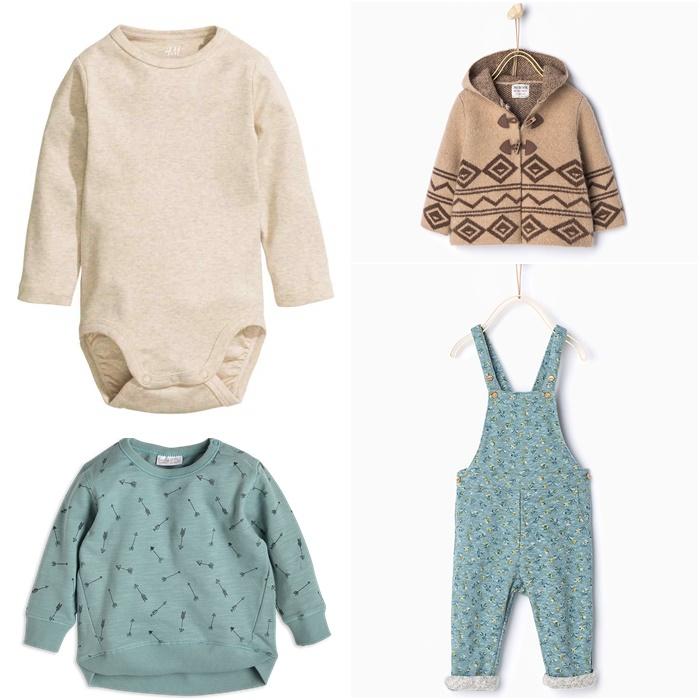 body H&M, ogrodniczki Zara, bluza Lindex, kardigan Zara